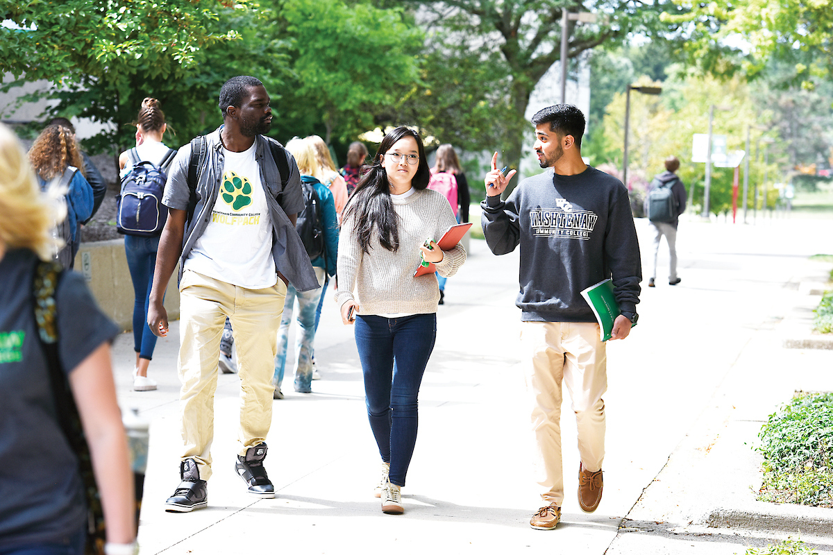 Image of Three Students.