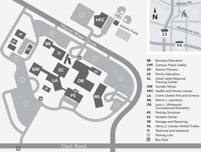 Campus and Parking Map